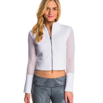 Alo Yoga Shell After Yoga Cropped Jacket at SwimOutlet.com - Free Shipping
