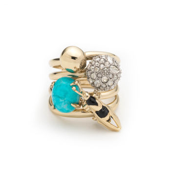 Enameled Hornet Orbiting Band Ring | Alexis Bittar