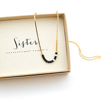 Sister Morse Code Necklace Jewelry