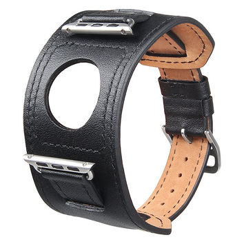 Leather Watchband Cuff Leather Band For Apple Watch 38mm 42mm