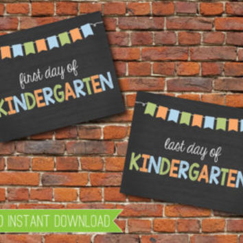 First Day of School Signs Bundle -- First Day of School of School Sign Bundle -- First Day -- School Sign -- Instant Download -- Printable