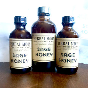 60ml SAGE HONEY face wash + mask // facial cleanse, face wash, honey wash // organic herbs infused in organic, raw honey