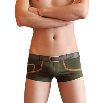 Hot Selling Cotton Underwear Men M L XL Mens Shorts Boxer Sexy Underpanties For Male Panties Comfortable  SM6