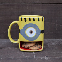 A Minion of My Very Own - Ceramic Cookies and Milk Dunk Mug - One Eye