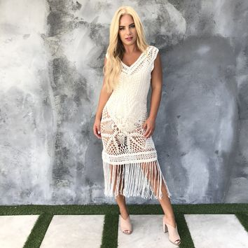 Find Me At The Beach Fringe Maxi