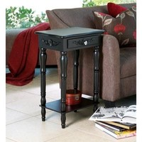 Beautiful Carved Black Side Table