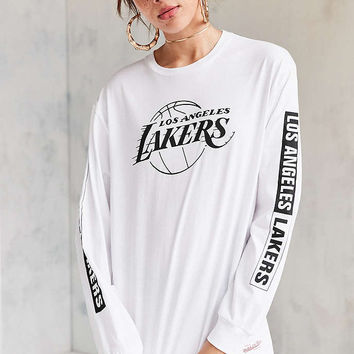 Mitchell & Ness NBA Long-Sleeve Tee - Urban Outfitters