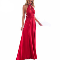 RED Bandage Party  Convertible Maxi Dress