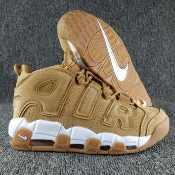 Nike Air More Uptempo Fashion Casual Running Sports Shoes Yellow G