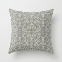 Frozen Throw Pillow by Project M