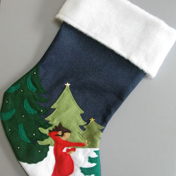 "Personalized Christmas Stocking ""Like No One's Watching"""