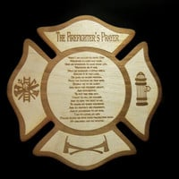 Firefighter Prayer Wood Plaque