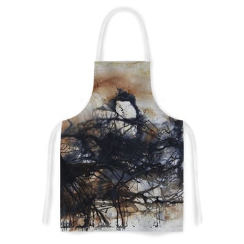 "Steve Dix ""Looking for Water"" Brown Black Artistic Apron"
