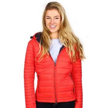 Landry Baffle Quilted Jacket in Flare and Navy by Barbour - FINAL SALE