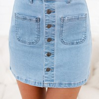 High Gear Denim Skirt (Light Denim)