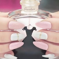 Baby Pink Stylish Stiletto Nails