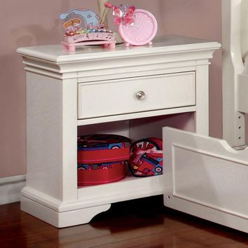 Mullan Transitional Nightstand, White