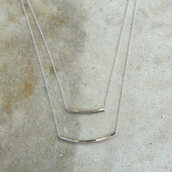 Delicate Double Bar Necklace
