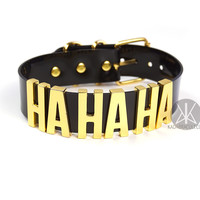 "Joker ""HA HA HA"" CHOKER - XL - GOLD"