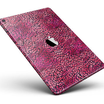 "Red Watercolor Leopard Pattern Full Body Skin for the iPad Pro (12.9"" or 9.7"" available)"