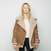 Velocite Oversized Shearling Jacket by Acne Studios