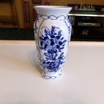 Portugal Art Pottery Small Bud Vase Blue From Morethebuckles On
