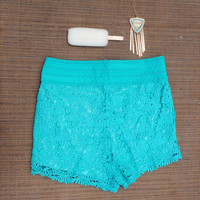 Scalloped Edge Lace Shorts