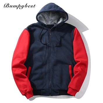 Hoodie Cardigan Zipper Spell Color Hoodies Men Fashion Tracksuit Male Sweatshirt Hood Men Purpose Tour