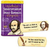 Shakespearean Insult Adhesive Band-Aids