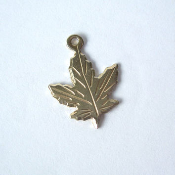 Vintage Sterling Canadian Maple Leaf Charm