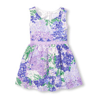 Toddler Girls Sleeveless Floral Print Lace Dress | The Children's Place