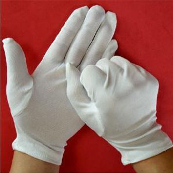 Practical Medium Thick Household Sanitary Gloves White Cotton Polyester Gloves Multipurpose Household Cleaning Tools SM6