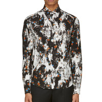 Mcq Alexander Mcqueen Black And White Double Print Shirt