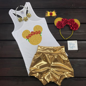 Coachella Belle Flower Crown Beauty & The Beast Shirt