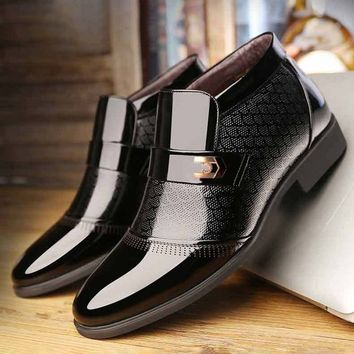 Men Microfiber Leather Non-slip Warm Lining Business Casual Boots,casual,vintage boots,business,bu office,cowboy bootshigh, heel boots,