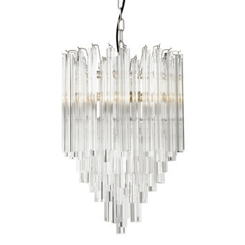 Glass Nickel Chandelier | Eichholtz Salerno