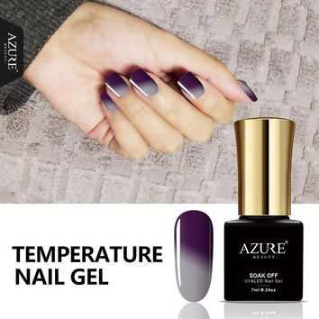 AZURE BEAUTY Grey Thermo Gel Nail Polish Thermal Gel Varnish 7ml Temperature Changing Color Enamel Hot Sale Azure Nail Gel Paint