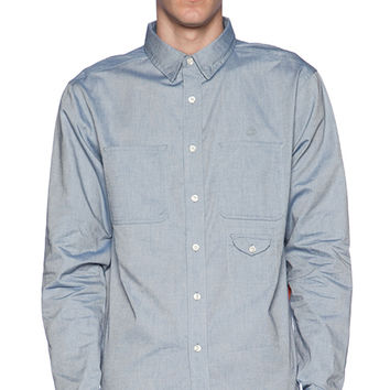 10 Deep Red Tail Work Shirt in Blue