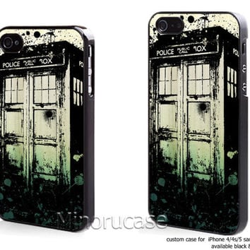 tardis dr who vintage Custom case For iphone 4/4s,iphone 5,Samsung Galaxy S3,Samsung Galaxy S4 by minorucase on etsy