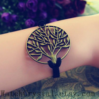 Wish tree ancient ginkgo tree Bracelet,simple Men&Women Personality Bracelet Antique wrist bangle bracelet WB141