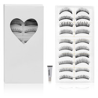 Shany Long Black Natural Soft False Eyelashes (Set of 10)