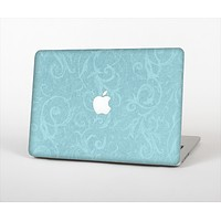 The Subtle Blue Floral Laced Skin Set for the Apple MacBook Pro 13""