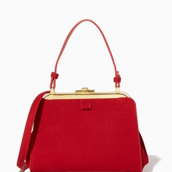 Garbo Top Handle Satchel | Charming Charlie