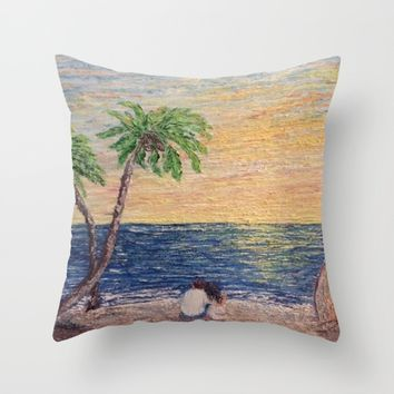 Oil Painting Print Throw Pillow by Annette Forlenza