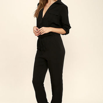 Sensible Solution Black Jumpsuit