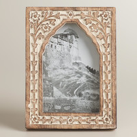 Whitewash Carved Rambagh Frame - World Market