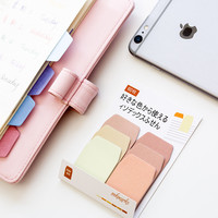 60 Sheets/Pack Candy Color Index Sticky Notes Notebook Planner Accessories Tool Index Sticky Sticker Message Notes Scratch pad