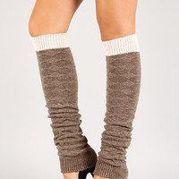 Two Tone Knit Leg Warmers