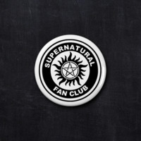 Supernatural fan club button