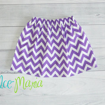 Purple Chevron Baby Toddler Girls Skirt Size Newborn to 5T by Dolce Maria Clothing